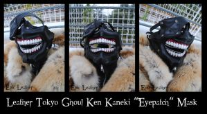 Commission: Leather Tokyo Ghoul Mask - Open by Epic-Leather