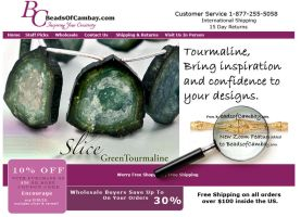 Tourmaline Emailer by BeadsofCambay