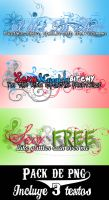 Textos PNG - Pack 3 by LoveDanceFlawless