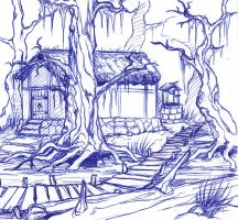 Swamp Cottage by tarorae