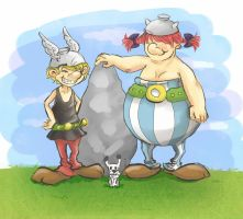 Asterix and Obelix by Ai-li-Japan