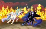 Ponies sword fighting can't look cool by ActuallyPiemations