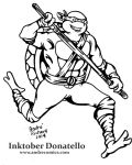 Inktober Donatello Ninja Turtles by AndrePaploo