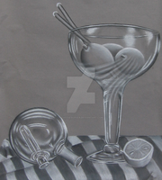 Charcoal Still Life by cheeseborger