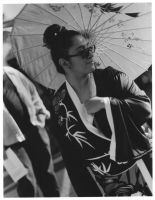 Lady with the thin umbrella. by squallette