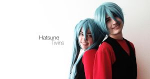 Hatsune Twins nyaw by Tefaloid