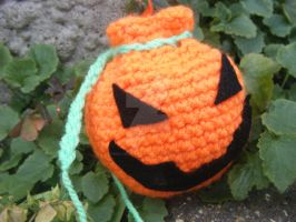 Jack-o' Drawstring Purse by ChillyBlackDwagon