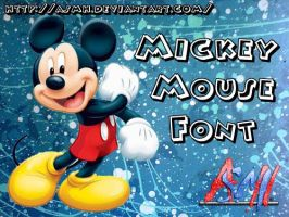 Mickey Mouse Font by ASMH