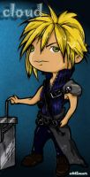 cloud in chibi colored by oblivious-art