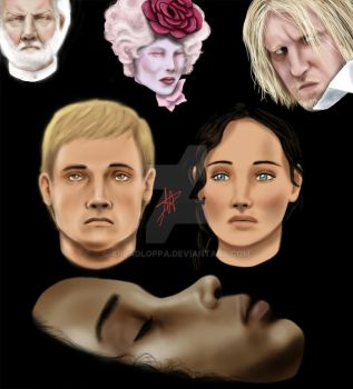 Hungergames Characters by Arpadloppa