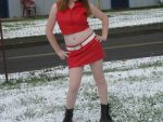 Me as Meiko in the snow by Hinat1emo
