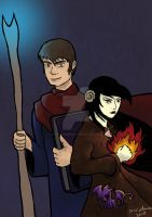 Elle and Jairen Portrait by The-Mysterious-MJ
