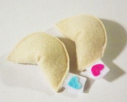 Sweet Lil Felt Fortune Cookies by RyuuseiHime