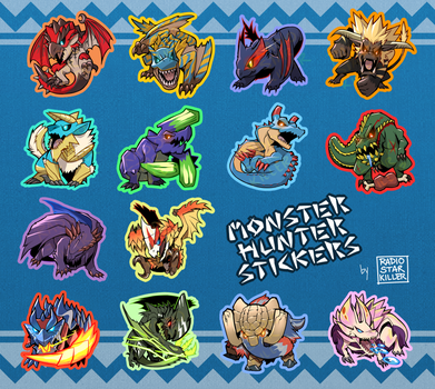 Monster Hunter Stickers by radiostarkiller