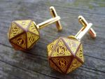 Steampunk Dice Cufflinks v2 by kickthebucket