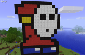 Mincraft Pixel Art Shy Guy by LarpLoser