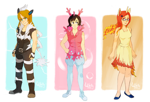 Gijinka Girls by CuteSkitty