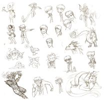 Many Sketches by chaoticwaltz