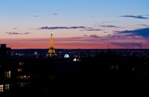 Eiffel Tower in Paris at sunset by andre2886