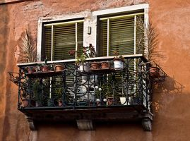 Venitian Window Orange wall by CorazondeDios