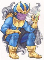 Thanos Chibi by AkiAmeko
