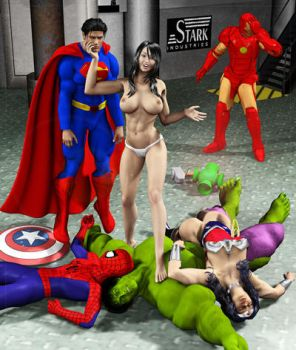 Super Heros Destruction by Stone3D