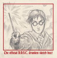 Harry Potter sketch coaster by Nortedesigns