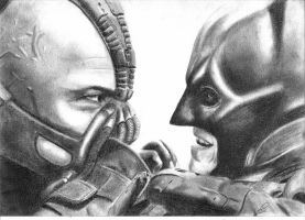 Bane vs Batman by Just-Another-G33K