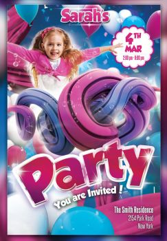 Kid Party Flyer by cleanstroke