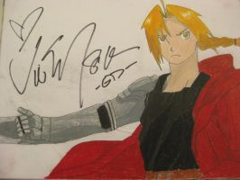 Ed drawing signed by Vic! by NightChild139
