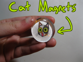 Cat Magnets ON SALE IN ETSY by Catmaniac8x