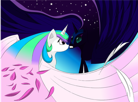 Celestia And Luna by Zelpheropolis