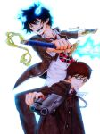Ao no Exorcist Rin and Yukio-Colored Pencils+video by Amana-Jackson