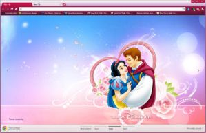 Snow White and Prince Charming Google Chrome Theme by vrkm2003
