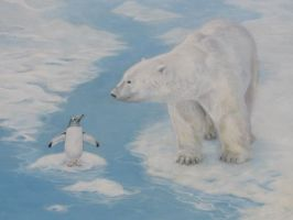 Polar Bear and Penguin by Silas-Higgle
