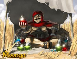 MERCHANT_of_COAL_MAN_POTION_for_Moonga by totmoartsstudio2