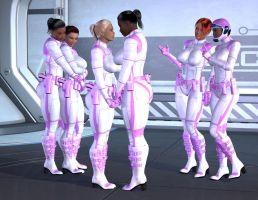 Space Babes: Study in pink by spacebabes