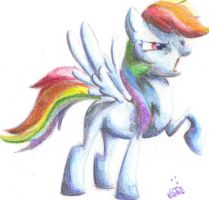 Rainbow Dash, quick color by jump-cut