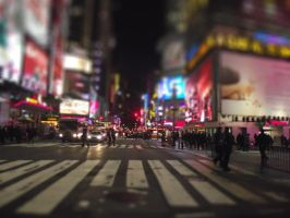 Tilt Shift Times Square by reecito