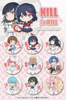 Kill la Kill - button set by Ninamo-chan