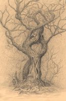 Anthropomorphic loving oak by AldemButcher