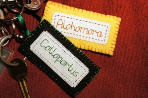 Harry Potter keyrings by VickitoriaEmbroidery
