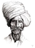 Old Indian Man by orehovka