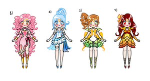 Sailor Senshi Adoptables Batch 1 CLOSED by YukiMiyasawa