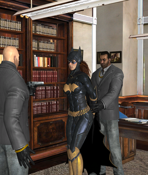 Batgirl captured by Black Masks Thugs (6) by integfred