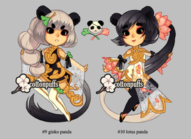 Adopt Auction: Panda Sisters (closed) by cottonpuffs