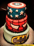Super Hero Cake by SweetSorrowIsMY2moro