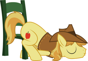 Braeburn sleeping on chair by dasprid