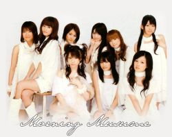 Morning Musume white wallpaper by liamers
