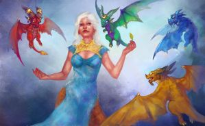 Mother of dragons by Uruno-Morlith